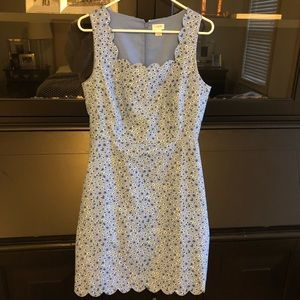 J Crew Factory - Blue Scallop Dress (Size 6)